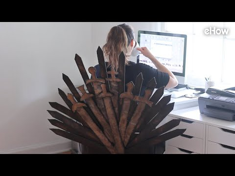 DIY 'Game Of Thrones' Iron Throne Office Chair