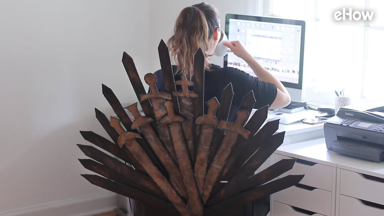 quality design 9ceb0 52e0a DIY 'Game of Thrones' Iron Throne Office Chair