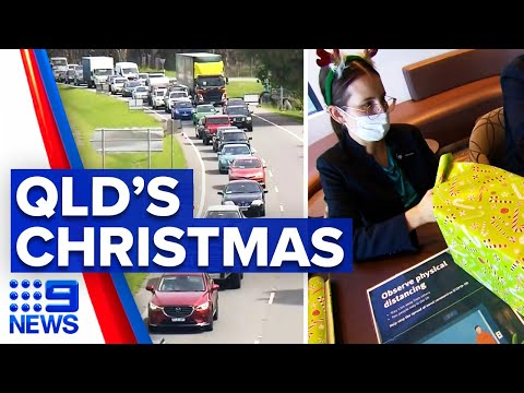 Coronavirus: Queensland police officers working Christmas day | 9 News Australia thumbnail