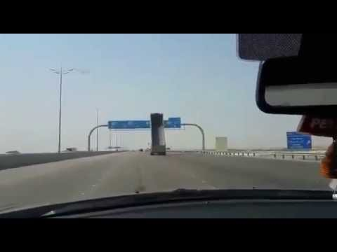[Saudi Arabia] Truck Crashes into a Highway Sign