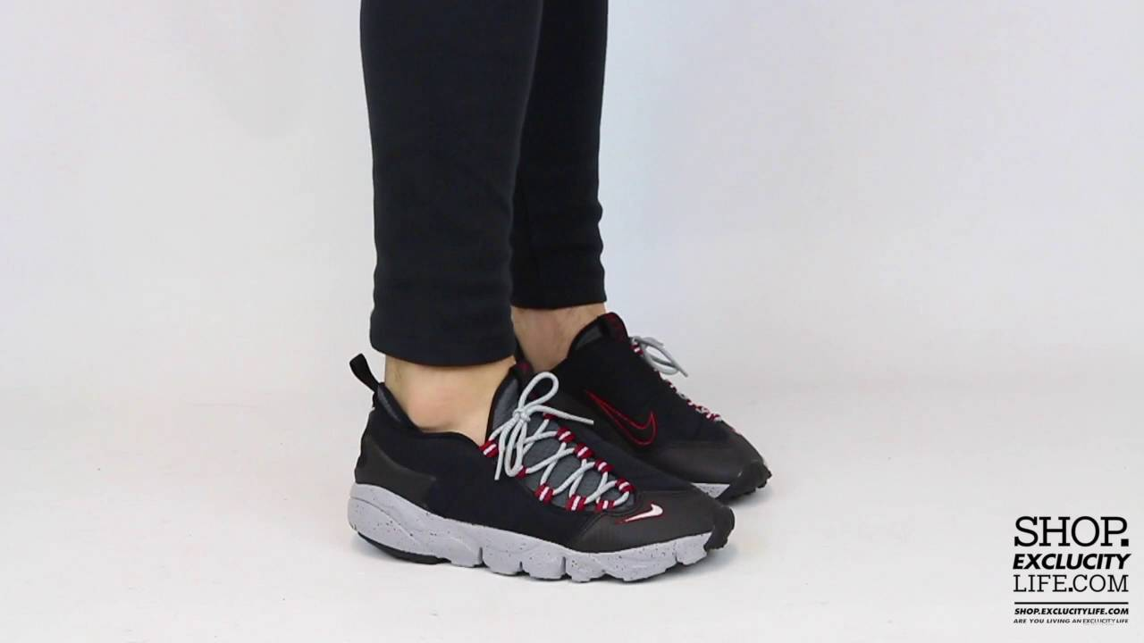 cheap for discount 45ee0 d2bd2 Nike Footscape Motion NM Black Team Red On feet Video at Exclucity