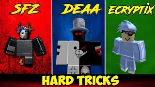 ROBLOX Parkour : Hard tricks (ft. SFZ ,Ecryptix)