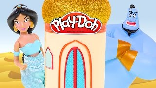 Princess Jasmine Play Doh Castle *** Disney Aladdin Mini Palace Diamond Edition Toys