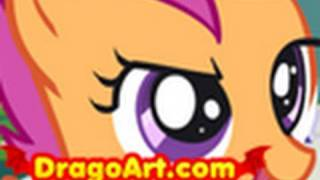 How to Draw Scootaloo, Scootaloo, My Little Pony, Step by St