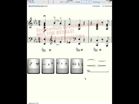 SeeScore editing demo