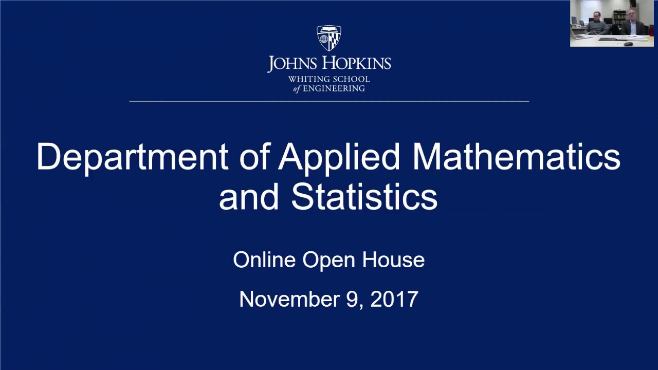 Online Information Session: Applied Mathematics and Statistics and ...