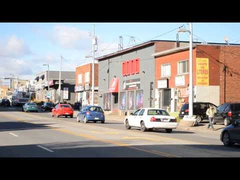 LAVAL QUEBEC STREET SCENE / TIME AND TEMPERATURE