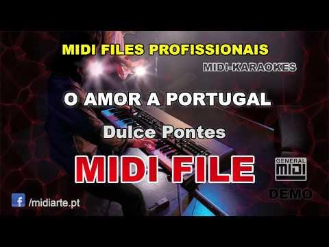 ♬ Midi file  - O AMOR A PORTUGAL - Dulce Pontes