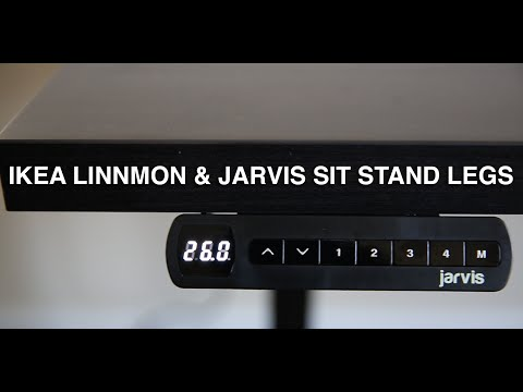Ikea Linnmon Desktop with Jarvis Sit Stand Desk Review