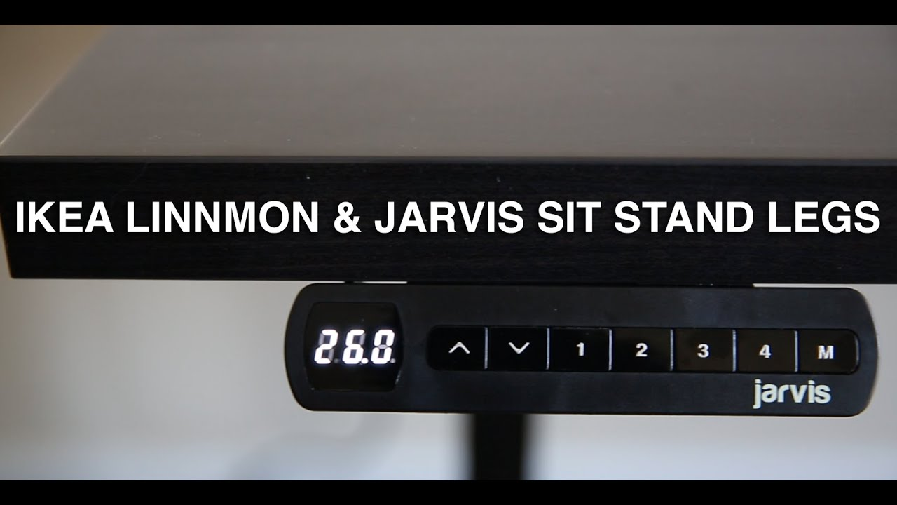 Ikea Linnmon Desktop with Jarvis Sit Stand Desk Review YouTube