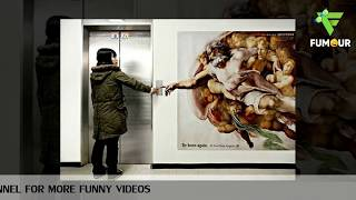 Most Clever and Creative Elevator Ads | Funniest Advertisements on Elevators
