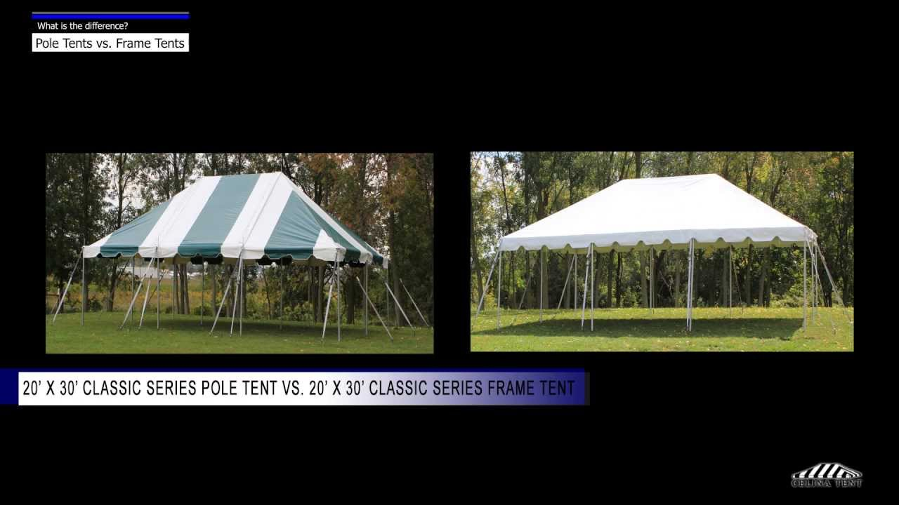 POLE Tents vs. FRAME Tents - What is the difference? - YouTube