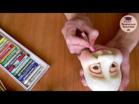 Текстильная кукла из капрона Грелка на чайник Мастер