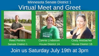 Meet and Greet for SD1(Reed Perkins), 1A(Connie Lindstrom), and 1B(Cindy Ansbacher) Candidates