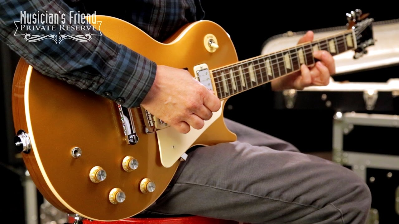 gibson limited edition pete townshend 1976 gold top les paul deluxe electric guitar youtube. Black Bedroom Furniture Sets. Home Design Ideas