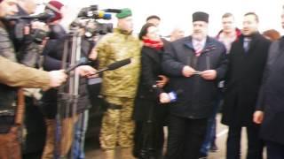 Чубаров возле российского КПВВ на Чонгаре