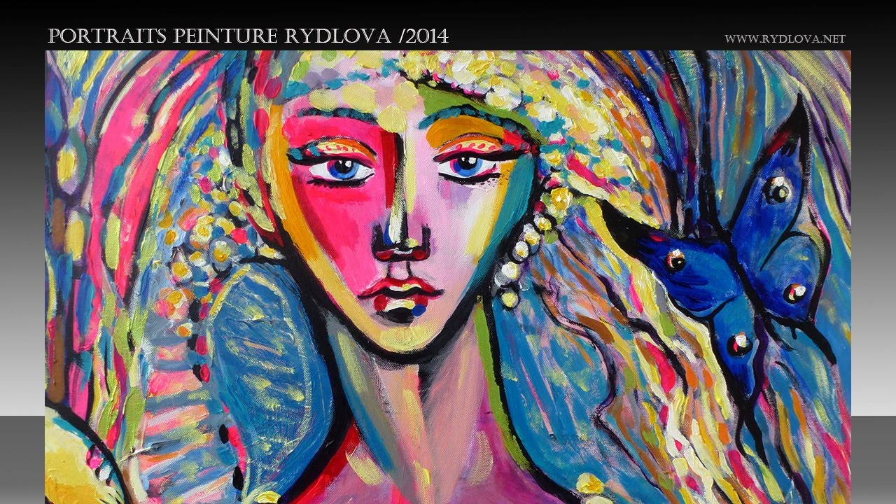 Peintures portraits peinture contemporaine rydlova lucie for Peinture contemporaine