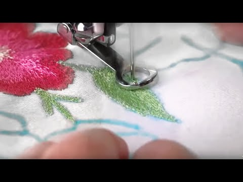 Singer Sewing Machine Darning Embroidery Foot YouTube Interesting Singer Sewing Machine Embroidery