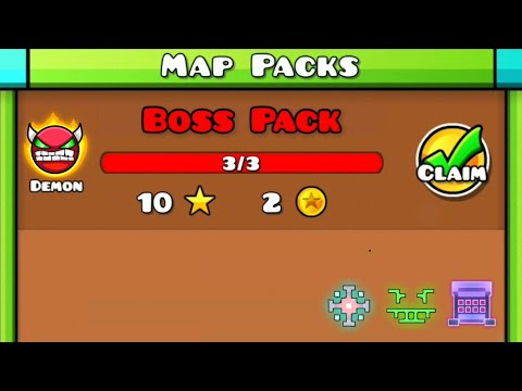 BOSS PACK | Geometry Dash (Boss 3~5 / Demon Map Pack of Xender Game) [All Clear]