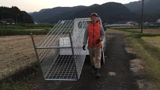 太田式マトリョーシカ箱罠5つの特徴 1 下部が密でウリ坊が逃げれない 2 ...