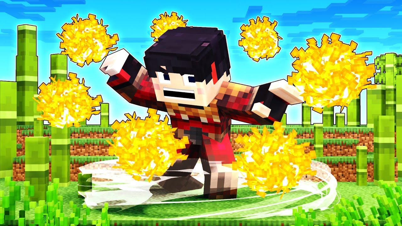 ME CONVIERTO EN GUERRERO DE FUEGO!🔥🤣   Minecraft