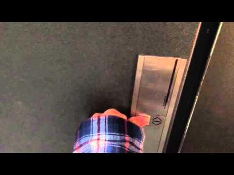 Broken Rare schindler S-Series elevator at coop in bern Switzerland