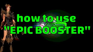 "Cabal Online EU Mars - how to use ""EPIC BOOSTER"""