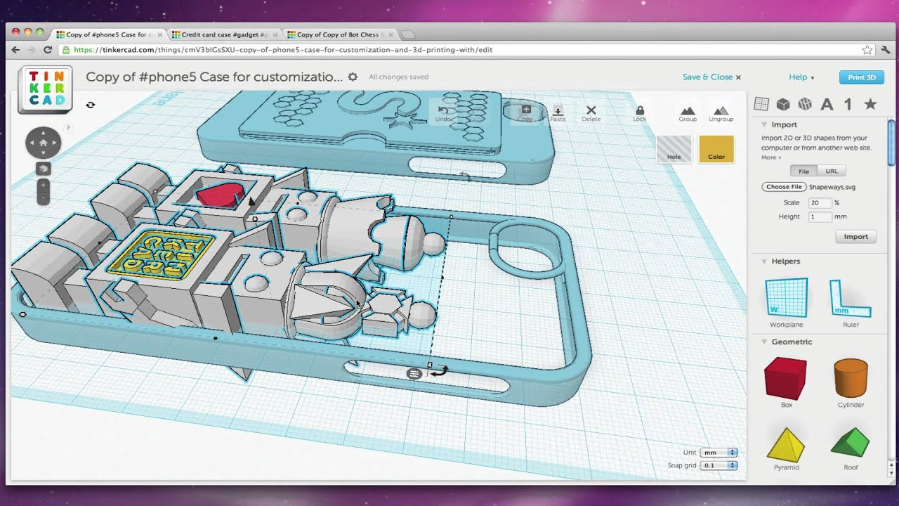 Design a case for iphone 5 with tinkercad youtube Tinkercad 3d