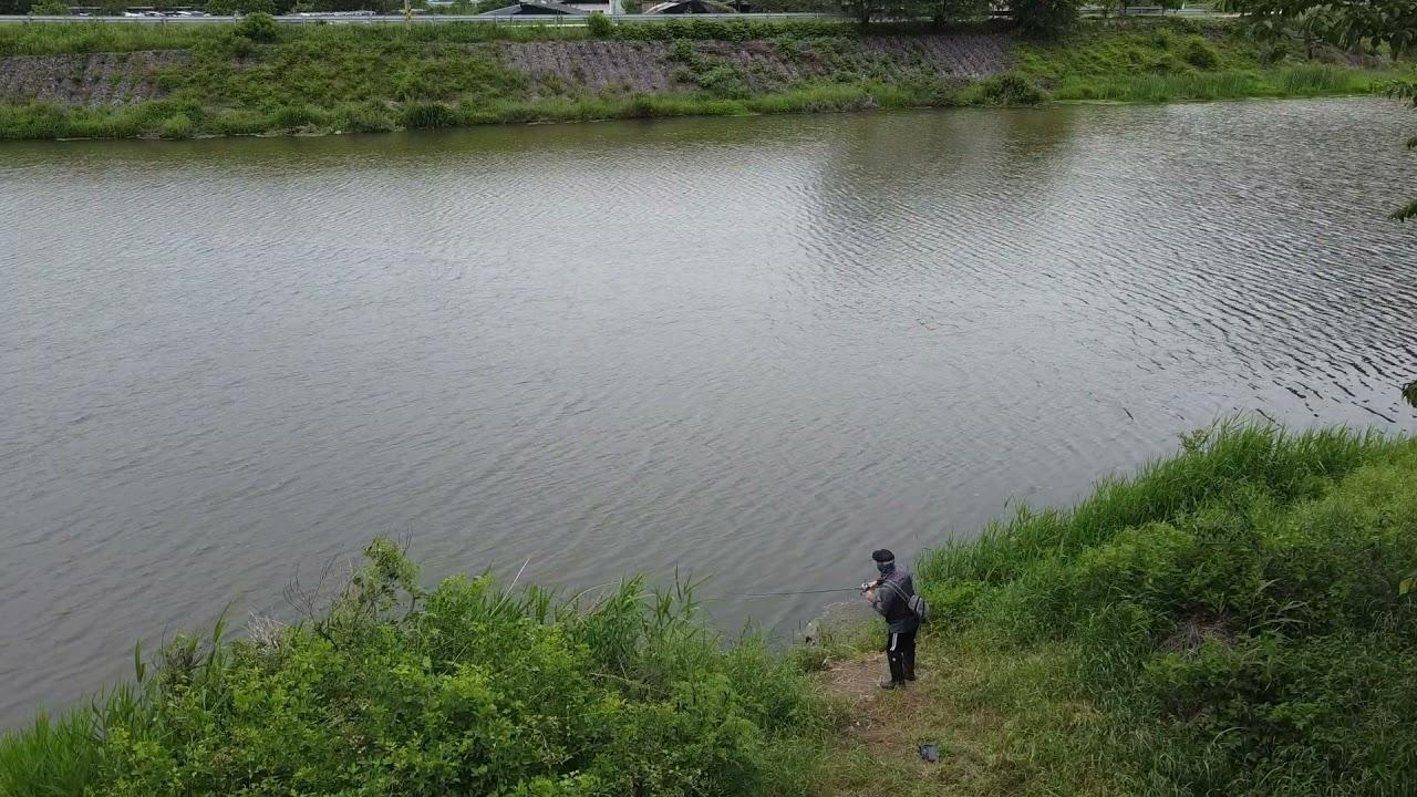 경남 합천 수로권 배스낚시 드론촬영 영상 Bass Fishing in Korea  - Hapcheon GyeongNam - DJI Mavic Mini Drone Footage