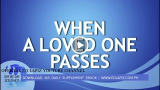 Ed Lapiz - WHEN A LOVED ONE PASSES /Latest Sermon Review New Video (Official Channel 2021)