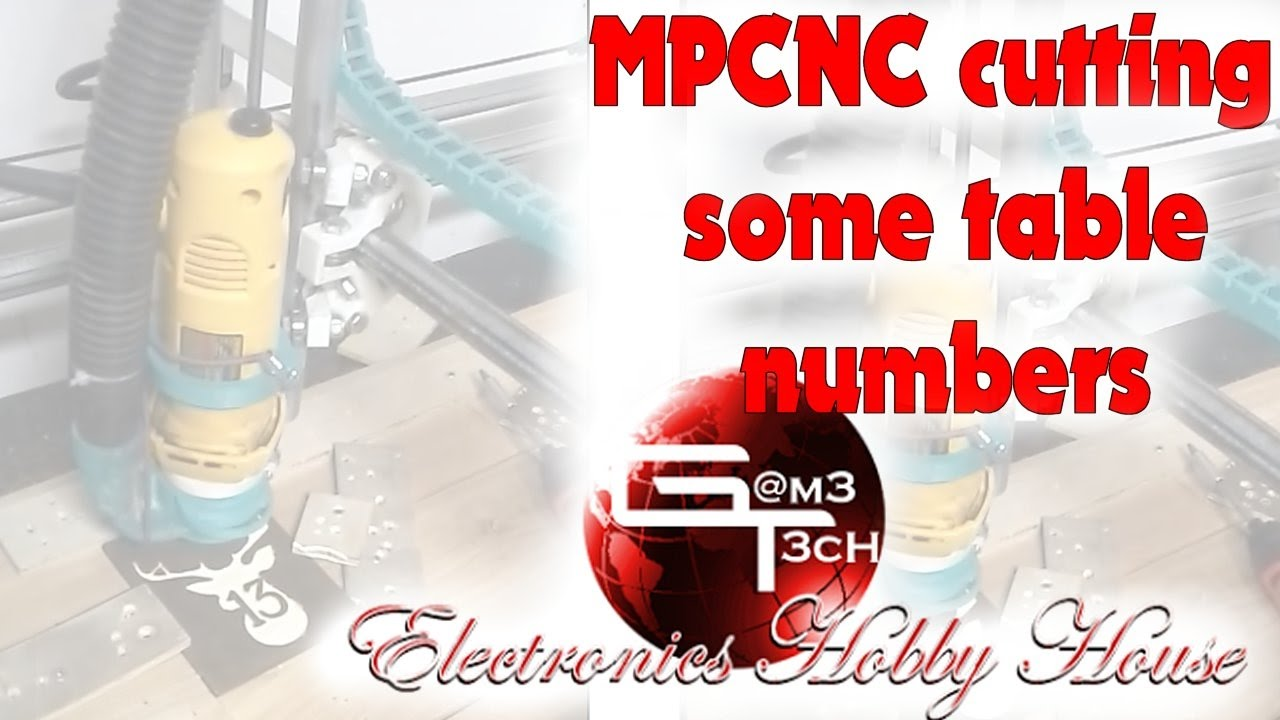 Mpcnc cutting some table numbers by Gam3T3cH Electronics
