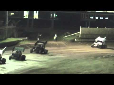 sprint car heat & A feature creek county speedway 8 3 13 Sapulpa Oklahoma 1/4 mile clay oval