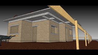 Projeto Grátis em 3D 2019 de uma Casa de 77,7m² - Com Suíte