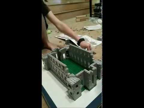 Petra & Dad build the temple