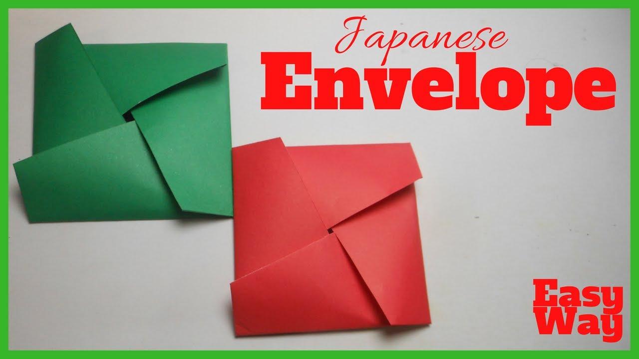 Easy Origami Japanese Envelope For Beginners