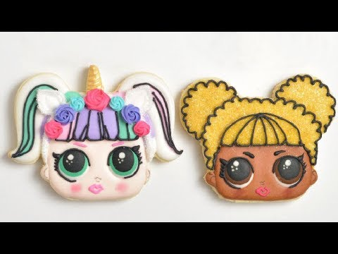 LOL SURPRISE QUEEN BEE & UNICORN DOLL COOKIES, Lil Outrageous Littles Collaboration