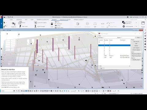 Tekla Structures 2019i - Search In Model