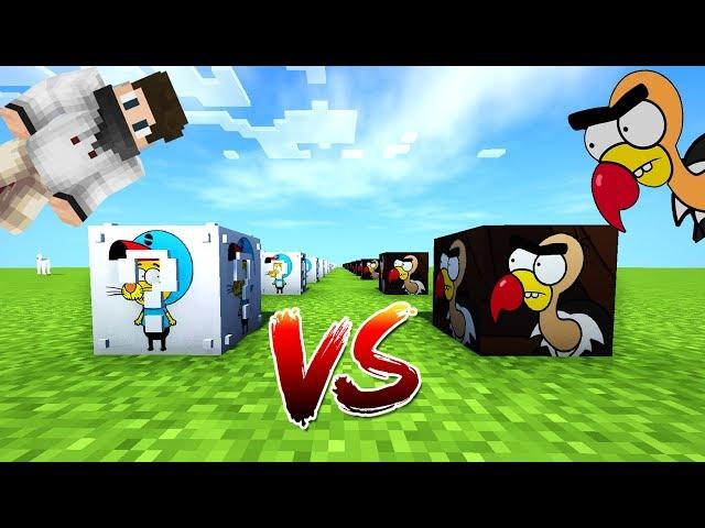 KRAL ŞAKİR VS AKBABA KÜRŞAT ŞANS BLOKLARI - Minecraft