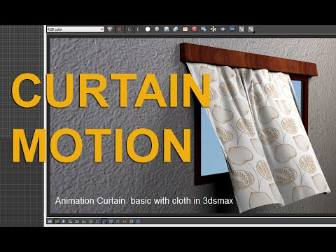 3Ds Max Tutorial - Cloth Modifier-Creating a Curtain
