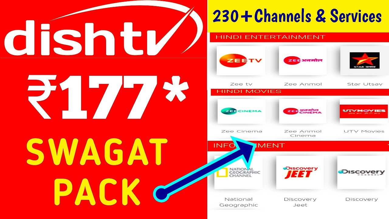 Dish TV Swagat Pack Full Details & Channel List By Tech Net India