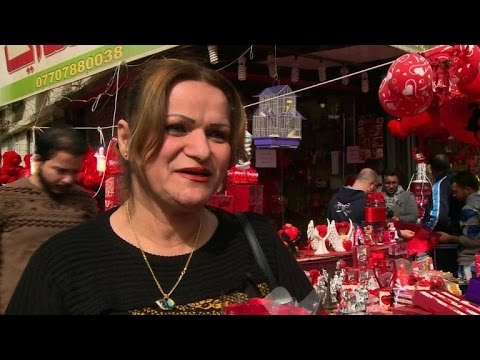 Sharing the love on Valentine's Day in Iraqi capital