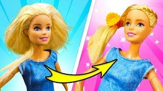 Кукла Барби попала в дождь и стала косматая! Делаем прическу Барби! Видео про куклы и  Салон Красоты