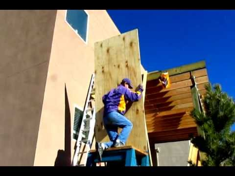 How To Lift 3 4 Inch Plywood On Your Roof By Yourself