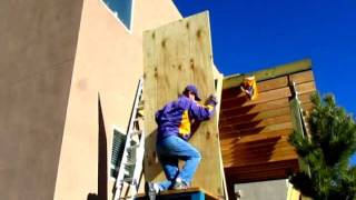 How To Lift 3/4 Inch Plywood On Your Roof By Yourself