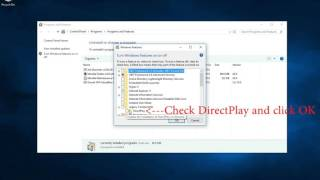 How to Enable DirectPlay in Windows 10!