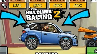 HILL CLIMB RACING 2  RALLY CAR   FULLY UPGRADED UPDATE 1.8.0 ✅
