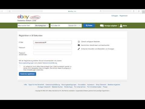 eBay Kleinanzeigen anmelden registrieren account erstellen Anmeldung  YouTube
