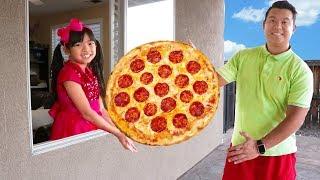 Emma Juegos de Pizza Gigante Juguetes de Drive Thru Auto-Servicio de Comida Rapida