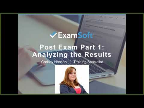 Post Exam Part 1: Analyzing the Results