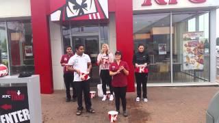 Ice bucket challenge kfc edinburgh way drive thru